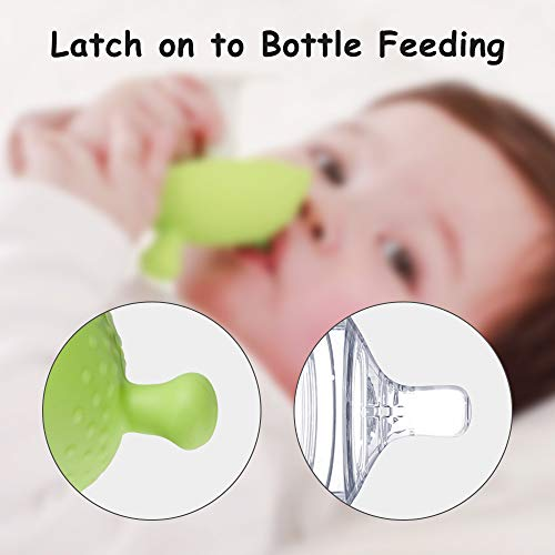 Eco inspired Baby Teether Toy - Baby Boy & Girl Teething Toys Made of Silicone for Teething Baby Relieve Sore Gum, Teething Mushroom Toy for Baby 3 Pack