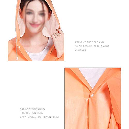 Outdoor Chaquetas Libre Con Aire Impermeable Impermeables Montañismo Naranja Capucha Al Adulto Excursionismo Huixin Poncho fSqYwAFf