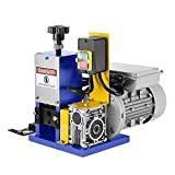 Happybuy Cable Wire Stripping Machine Φ1.5mm~Φ25mm Wire Stripping Machine 1 Channels Wire Stripping Machine Tool Manual Hand Cranked Industrial Wire Stripping Recycle (Dark Blue)