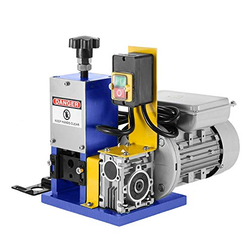 Happybuy Cable Wire Stripping Machine 1.5-25mm Automatic Electric Wire Stripping Machine 1 Channel Wire Stripping Machine Tool Manual Hand Cranked Industrial Wire Stripping Recycle (Dark Blue)