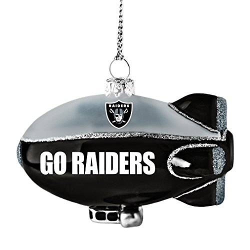 NFL Oakland Raiders Glitter Blimp Orname