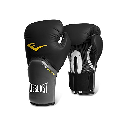 Everlast Pro Style Elite Training Gloves (Black, 14 Oz)