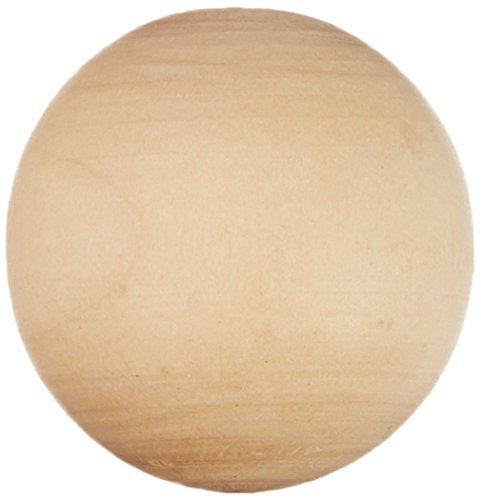 Wooden Small Balls - New Image Group VBAG-10139 Wood Turning Shapes Value Pack, 1-Inch, 16 Per Package