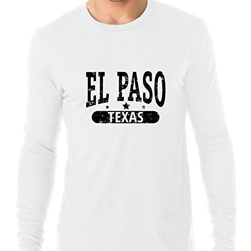 Hollywood Thread Trendy EL Paso, Texas With Stars Men's Long Sleeve T-Shirt -