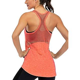 Fihapyli Workout Tank Tops for Women Sleeveless Yoga Tops for Women Mesh Back Tops Racerback Muscle Tank Tops Workout Tops for Women Backless Gym Tops Running Tank Tops Activewear Tops Orange M