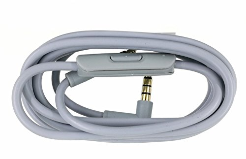 Replacement Audio Cable Cord Wire with In-line Microphone and Control Compatible with Beats by Dr Dre Headphones Solo/Studio/Pro/Detox/Wireless/Mixr/Executive/Pill (Grey)