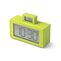 Lexon InOut ABS Alarm Clock, Couleur Anis, 11,5 x 4 x 7,9 cm