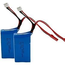 WLtoys, paquete por 2 baterías de Li-Po 7.4V 850mAh de repuesto para cuadricóptero a control remoto de WLtoys V262 - azul (no se puede utilizar en auto a control remoto)