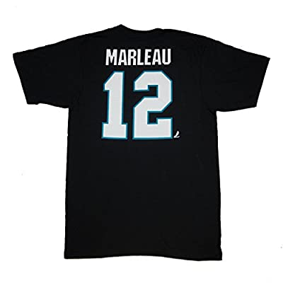 San Jose Sharks #12 Patrick Marleau Reebok Black Name & Number Tee Shirt