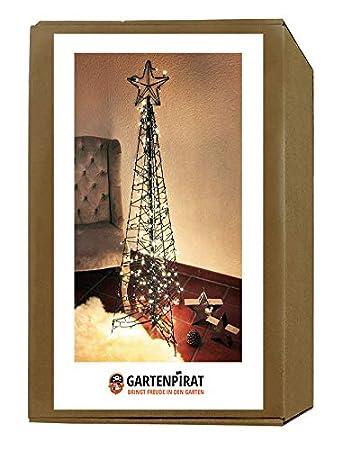 Moderner Weihnachtsbaum.Gartenpirat Moderner Weihnachtsbaum 160 Cm Metall Lichterketten 264 Led