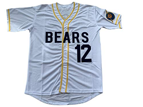 Supereasydeal Bad News Bears #12 Tanner Boyle Movie 1976 Chico's Bail Bonds Baseball Jersey (X-Large, White)