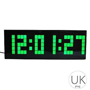 Repetición Digital LED de Alarma del Reloj de Pared Mesa de Escritorio Dormitorio Niños habitación Regalo de la Fecha de la Temperatura del Reloj: ...