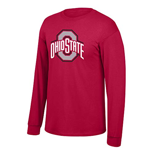 Elite Fan Shop NCAA Men's Ohio State Buckeyes Long Sleeve Shirt Team Icon Ohio State Buckeyes Red X Large