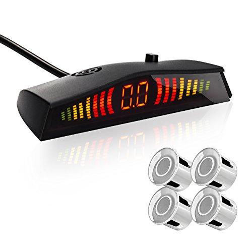 Reversing Sensor, Favoto LED Display Auto Rear Reverse Alert System Car Parking Sensor Backup Kit with 4 Sensors (Silver) Review