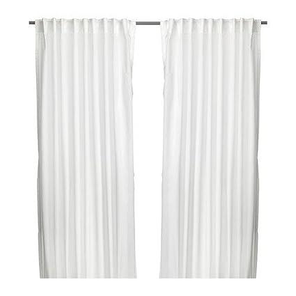Tende Con Anelli Ikea.Ikea 2 X Vivan Tende 1 Paio 145 X 300 Cm Colore Bianco Amazon