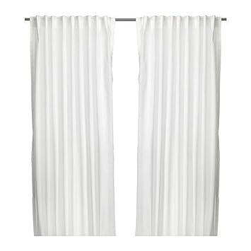 4 x IKEA Vivan - Rideaux, 1 paire, blanc - 145 x 300 cm: Amazon.fr ...