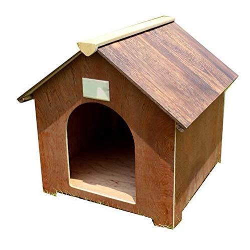 Boyishengshi Paulownia Perro casa Mascota casa Gato casa caseta de Perros Madera Maciza Mascota Nido de Conejo Nido