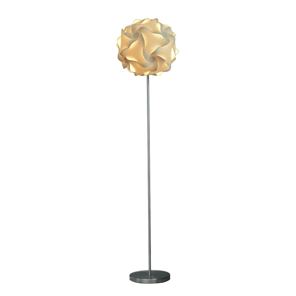 Iluminación de interior Color : Silver, tamaño : 22 * 155cm Creativa Lámpara de pie de Acero Inoxidable Europeo Simple Dormitorio Junto a la Cama Estudio Lectura Ojo Lámpara estándar E27 Lámparas