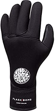 Rip Curl Flashbomb 5/3mm 5 Finger Glove - Black - Flash Lining - Unisex - E5 Flashlining - Stitchless Technolo