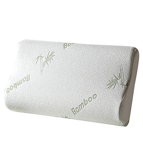 MIS1950s Pillow Designed for Your Head Protect,Single Neck Contour Bamboo Neck Pillow Memory Pillow Pillow Soft Comfy (White) (New Cushions My For Foam Couch)