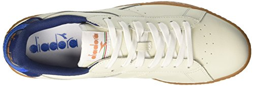 Bianco Blanc Diadora Estate Homme Cassé Game Blu Basses L Low Sneakers FxwC8U6q