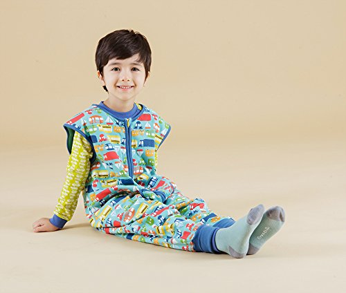 Vaenait baby Kids Boys Double-Layered Cotton Wearable Blanket Sleeper Sleep Travel S by Vaenait baby (Image #5)