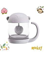 BigNoseDeer Tasse à thé en Verre de Chat Bouteille d'eau-avec Filtre de Filtre à Infusion de Pain de Poisson 250ML (8 oz)