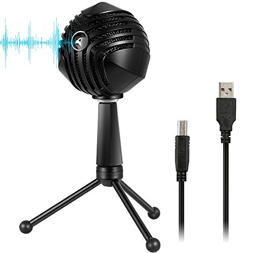 - SHENGY Professional Recording Condenser Microphone, 3 Kinds of Pickup Effect Switching, Built-in Sound Card, Reduce Noise, for Video conferencing, Games, Recording
