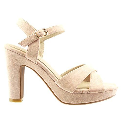 Pompe String Cm Sandales Chaussures Angkorly Femmes Talon Haut Plateforme Escarpins Rose 5 Sexy Bloc Mode Boucle 10 HUIwAqwnxf
