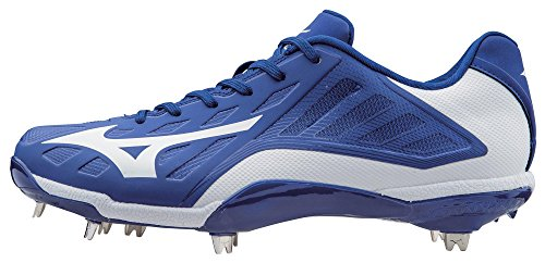Mizuno Men's Heist IQ Baseball Cleat, Royal/White, 9 M US