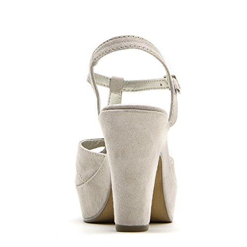 PRENDIMI by Scarpe&Scarpe - Sandalias altas con T-bar, con Tacones 10 cm Beige