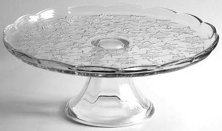 (5202 - Princess House Crystal Cake Plate)