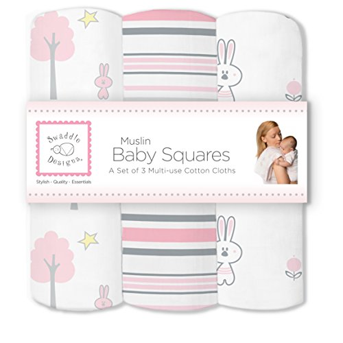 SwaddleDesigns Cotton Muslin Squares Thicket