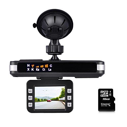 CARMATE 2 in 1 Radar Detector Camera and Car DVR HD Dash Camera Recorder with G-Sensor, Loop Recording,Motion