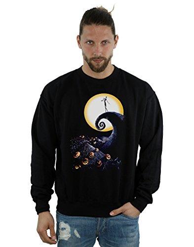 Disney Men's Nightmare Before Christmas Cemetery Sweatshirt Large Black