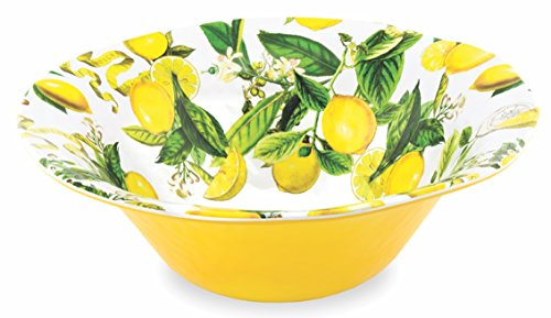 Michel Design Works Melamine Large Serving Bowl, Lemon (Design Serving Bowl)