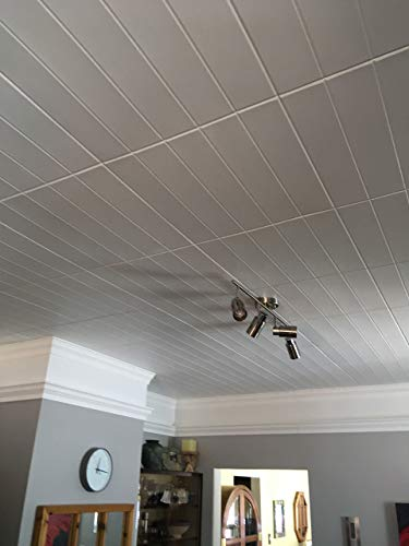 A la Maison Ceilings Model#804 Ceiling Tile (Package Of 8 Tiles), Plain White by A La Maison Ceilings (Image #1)