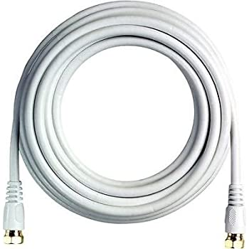 18 FT RG6 Coaxial Digital Cable for Satellite TV VCR Video (White) 18