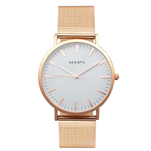 Watch Lover Gold (NORSYA Lovers Fashion Analog Quartz Watch with soft milanese mesh watch band (Women-Rose Gold))