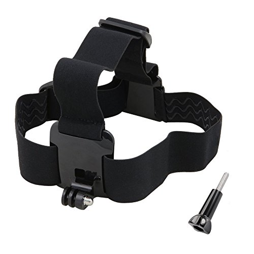 VVHOOY Action Camera Head Strap Mount Compatible with Gopro Hero 7/6/5/4/AKASO EK7000/Brave 4/5/V50/APEMAN/DBPOWER/Camprak/EKEN/Dragon Touch/Fitfort/Crosstour 1080P 4K Sports Camera