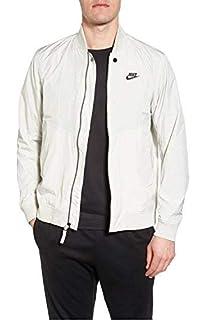 784ea664c6109 Amazon.com: Nike Men's Advance 15 Mixed Media Bomber Jacket Black ...