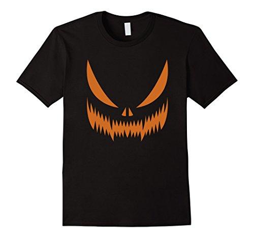 Mens Cool Graphic Design Evil Halloween Pumpkin Face T-shirt 3XL (Cool Halloween Pumpkins Designs)