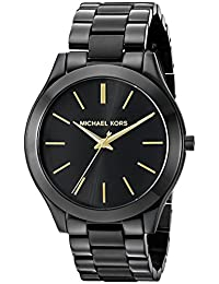 Michael Kors MK3221 Slim Runway Black Dial Black Ion-plated Unisex Watch