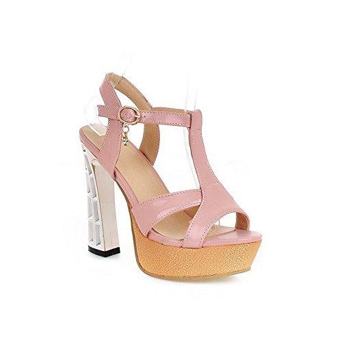 Rosa Material BalaMasa Crystal Sandalias Heels suave Ladies Plataforma Altura w8qwXx