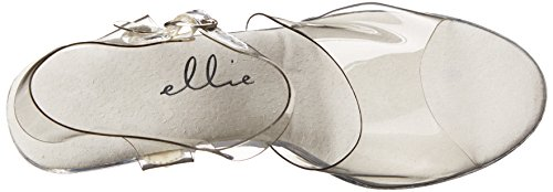 Ellie Shoes 4.5 Inch Heel Sandal With Ankle Strap, Size: 5 UK,Color: Clear