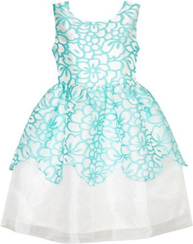 JE16 Flower Girl Dress Damask Jacquard Organza Tulle Wedding Pageant Princess Size -