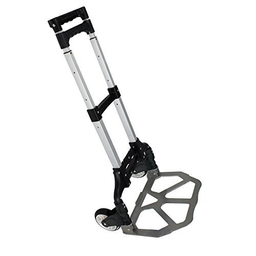 ZENY Compact Rolling Luggage Cart 170 lbs Aluminium Folding Dolly Push Hand Truck Collapsible Travel Shopping Supermarket Trolley by ZENY