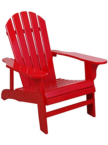 Leigh Country TX 94050 Adirondack Chair, Red (Outdoor Plastic Chair)