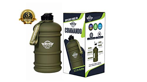 Supplement House Ind – 2.2 Litre Tritan Water Bottle – Now with Easy Drink Cap – Durable & Extra Strong – BPA Free – Ideal for: Gym, Dieting, Bodybuilding, Outdoor Sports, Hiking & Office Price & Reviews
