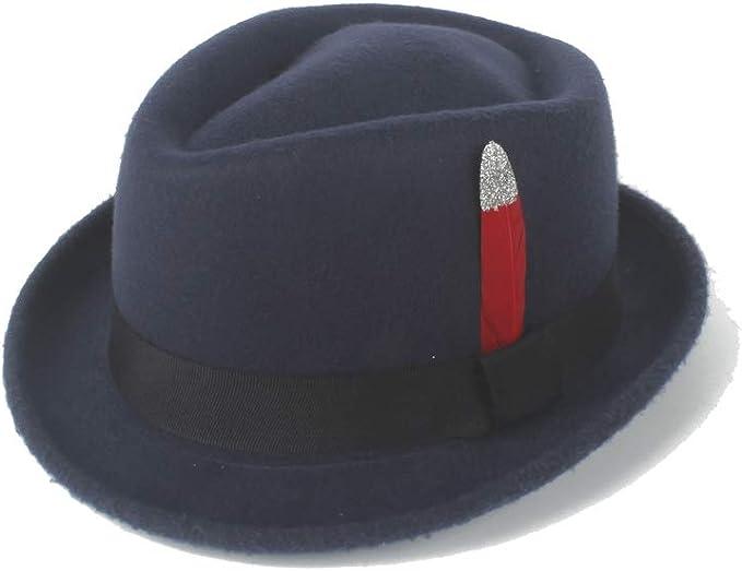 GHC gorras y sombreros Sombrero de fieltro retro de Fedora poco ...